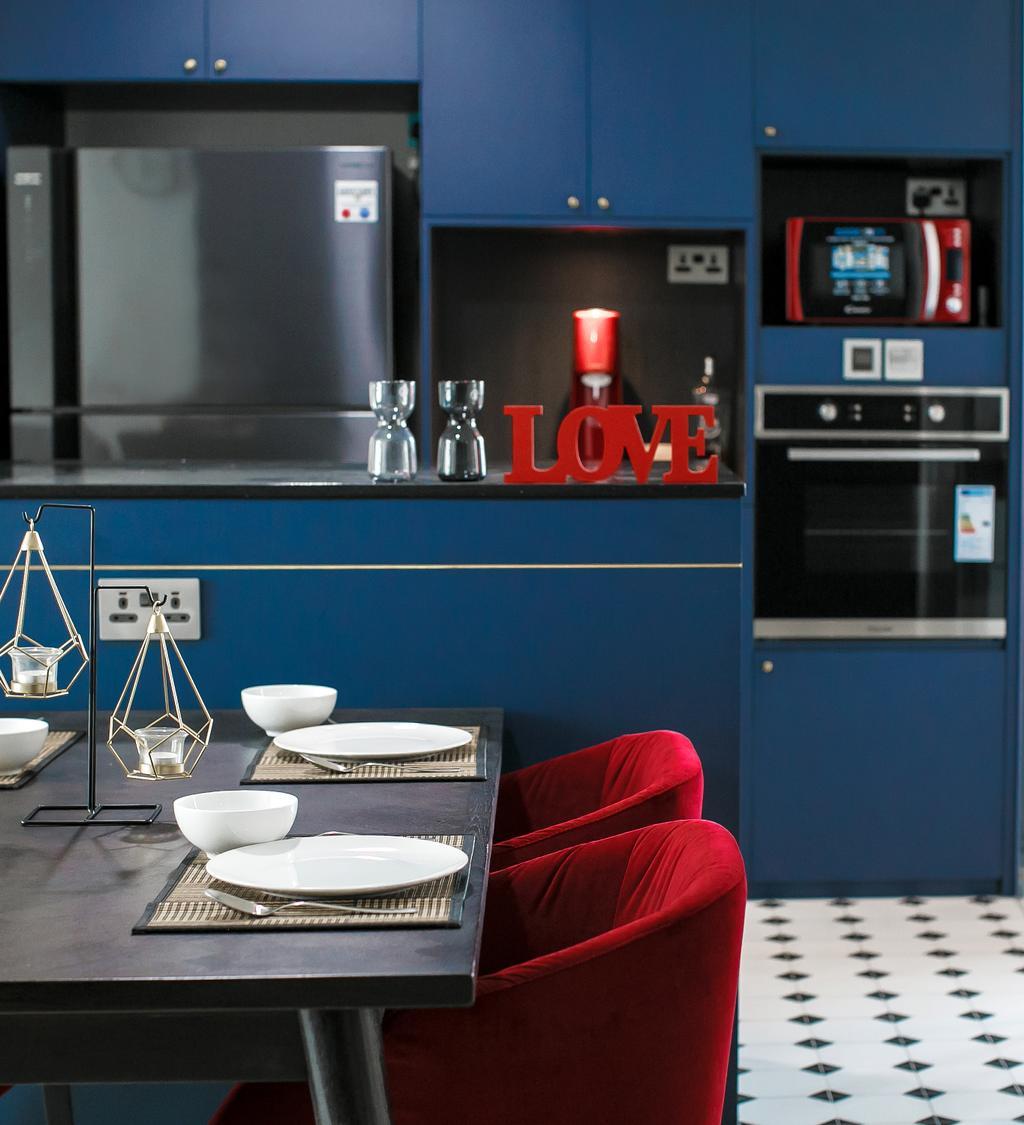 Contemporary, HDB, Kitchen, Senja Road, Interior Designer, Fifth Avenue Interior, Modern