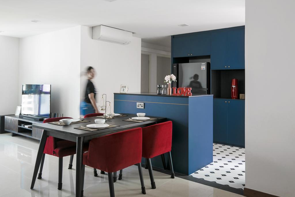 Contemporary, HDB, Dining Room, Senja Road, Interior Designer, Fifth Avenue Interior, Modern