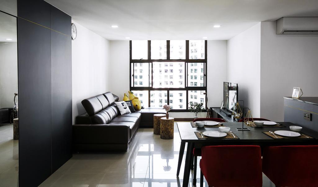 Contemporary, HDB, Living Room, Senja Road, Interior Designer, Fifth Avenue Interior, Modern