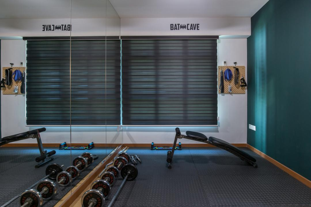 Canberra Street, Home Access Interior, Contemporary, Study, HDB, Gym, Home Gym, Workout, Fitness, Exercise, Exercise Corner