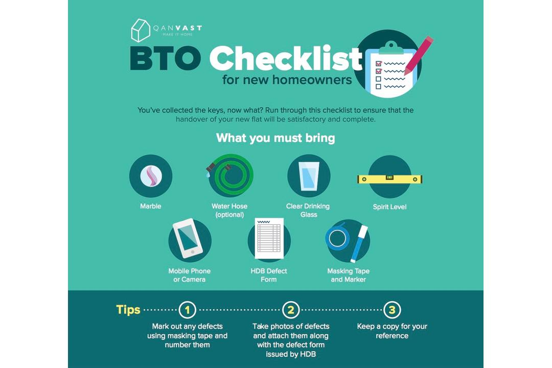Qanvast Guide: The Essential BTO Checklist for New Homeowners