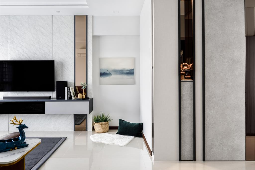 Contemporary, HDB, Living Room, Tampines North Drive 1, Interior Designer, Jialux Interior, Modern