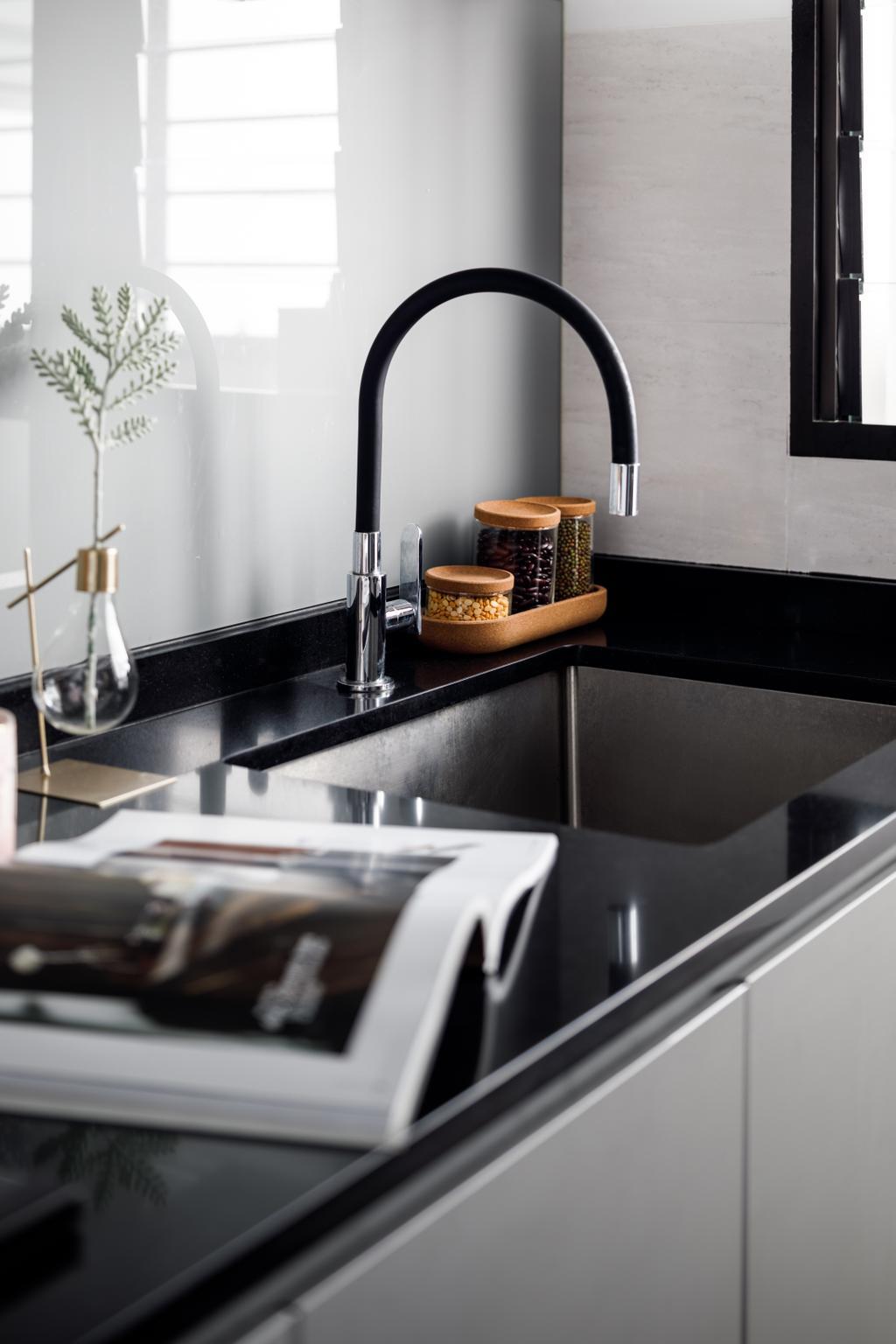 Contemporary, HDB, Kitchen, Tampines North Drive 1, Interior Designer, Jialux Interior, Modern