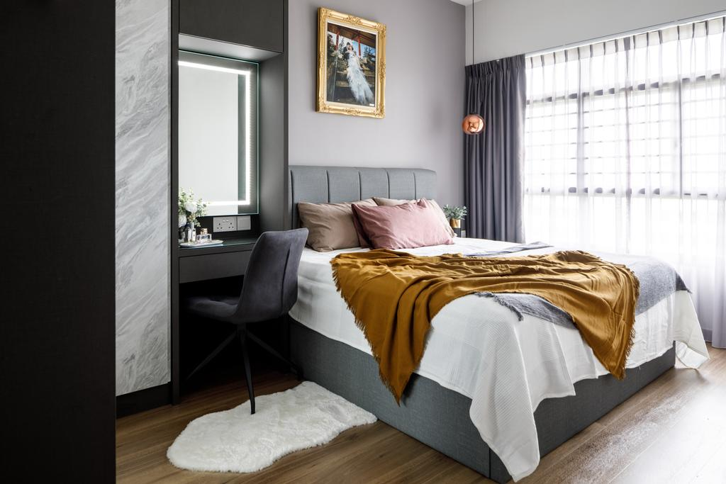 Contemporary, HDB, Bedroom, Tampines North Drive 1, Interior Designer, Jialux Interior, Modern