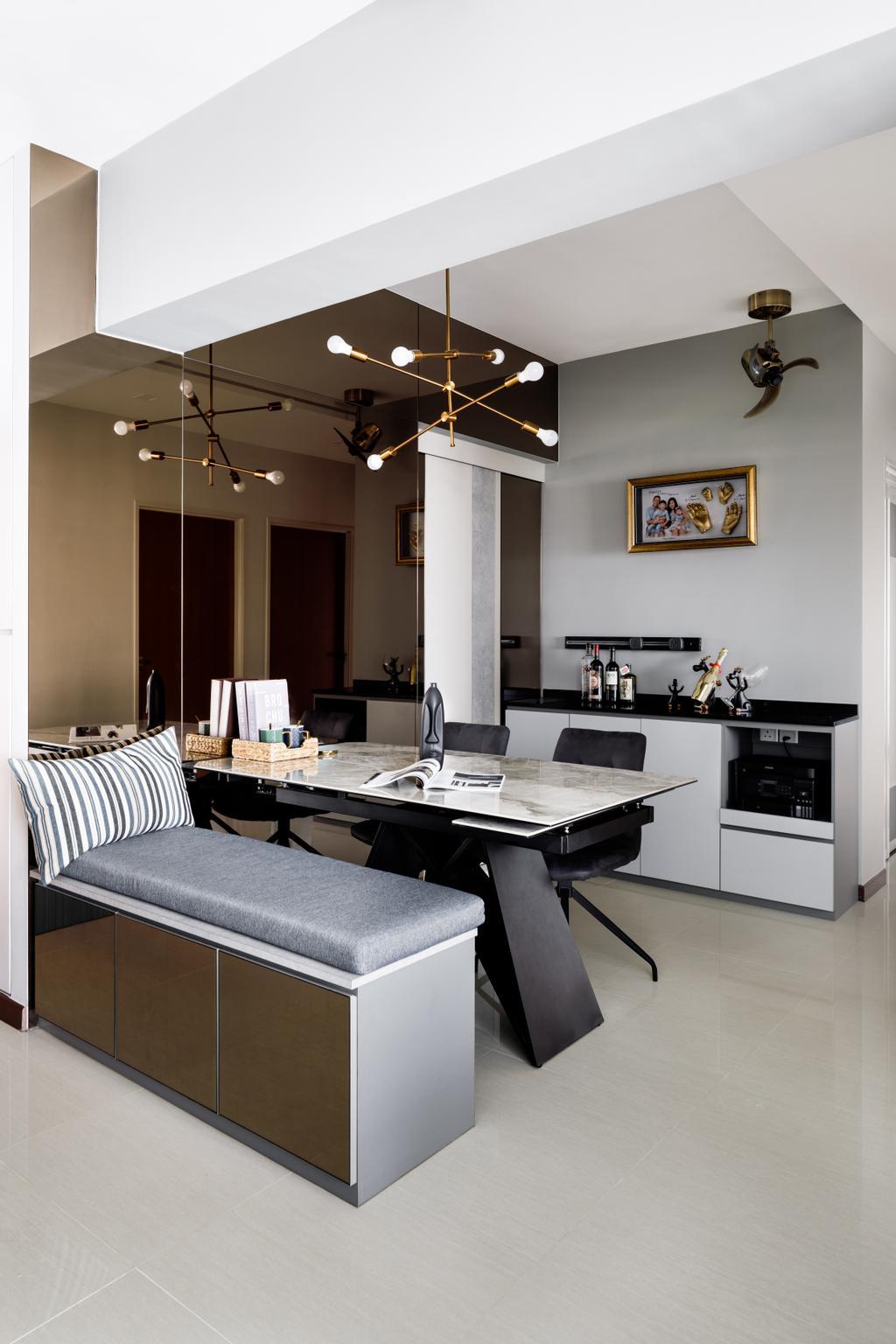Contemporary, HDB, Dining Room, Tampines North Drive 1, Interior Designer, Jialux Interior, Modern
