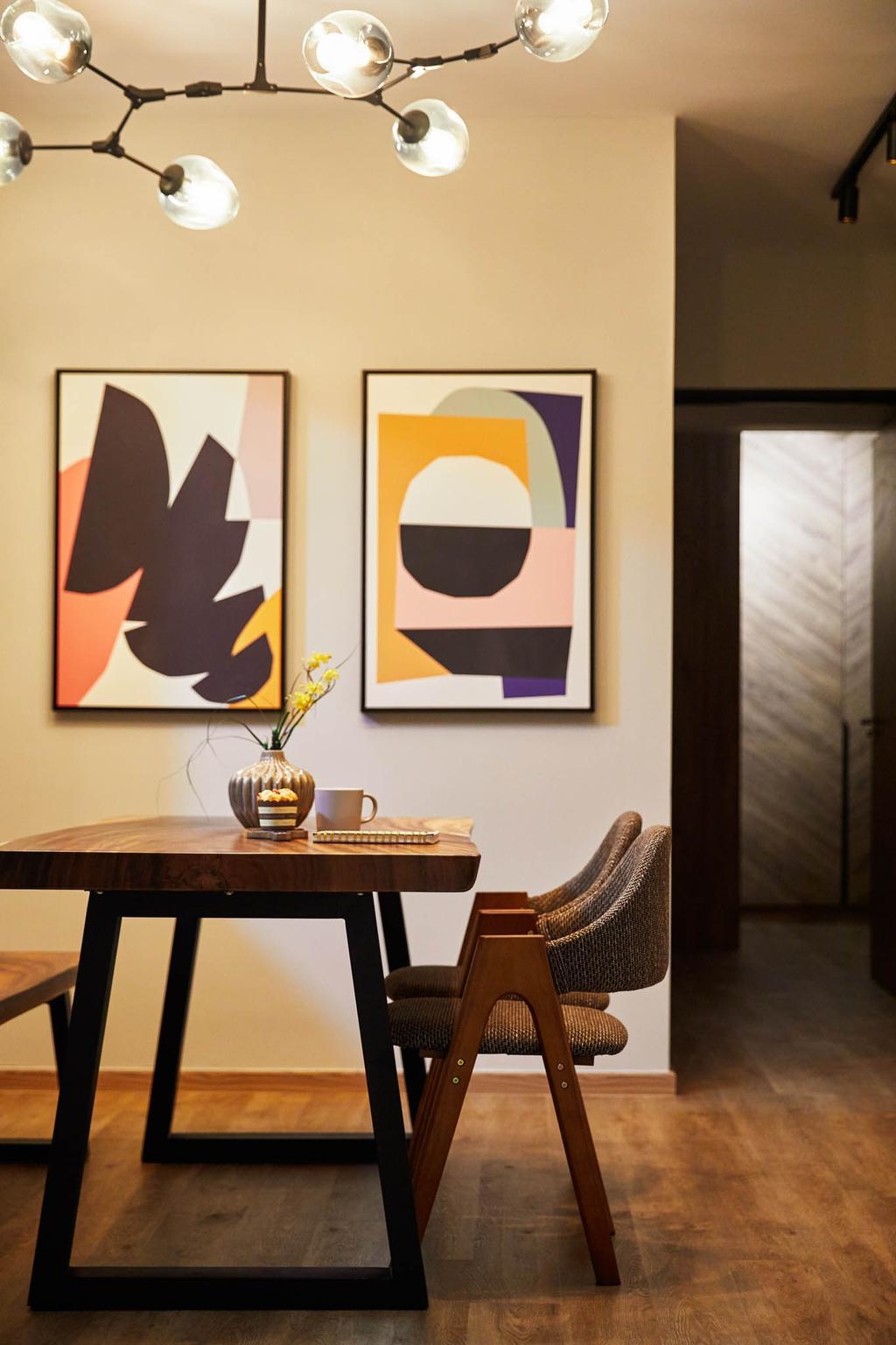 Contemporary, HDB, Sengkang West Road, Interior Designer, MET Interior