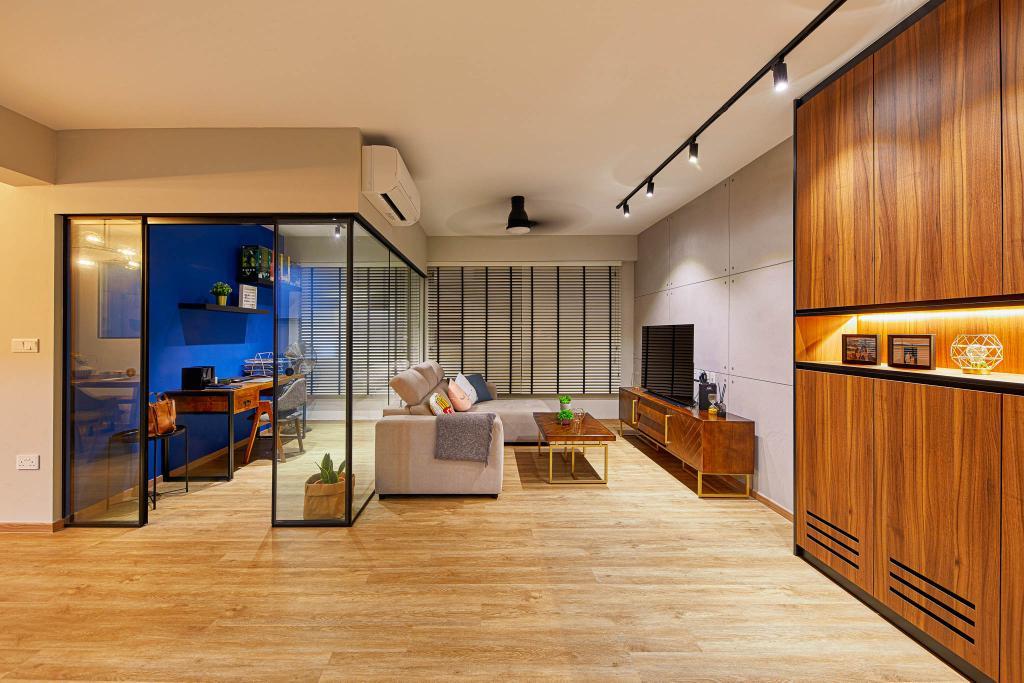 Contemporary, HDB, Living Room, Sengkang West Road, Interior Designer, MET Interior