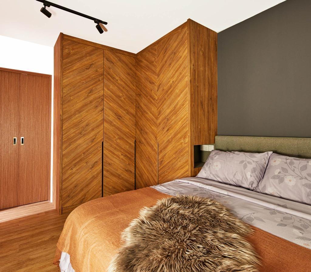 Contemporary, HDB, Bedroom, Sengkang West Road, Interior Designer, MET Interior