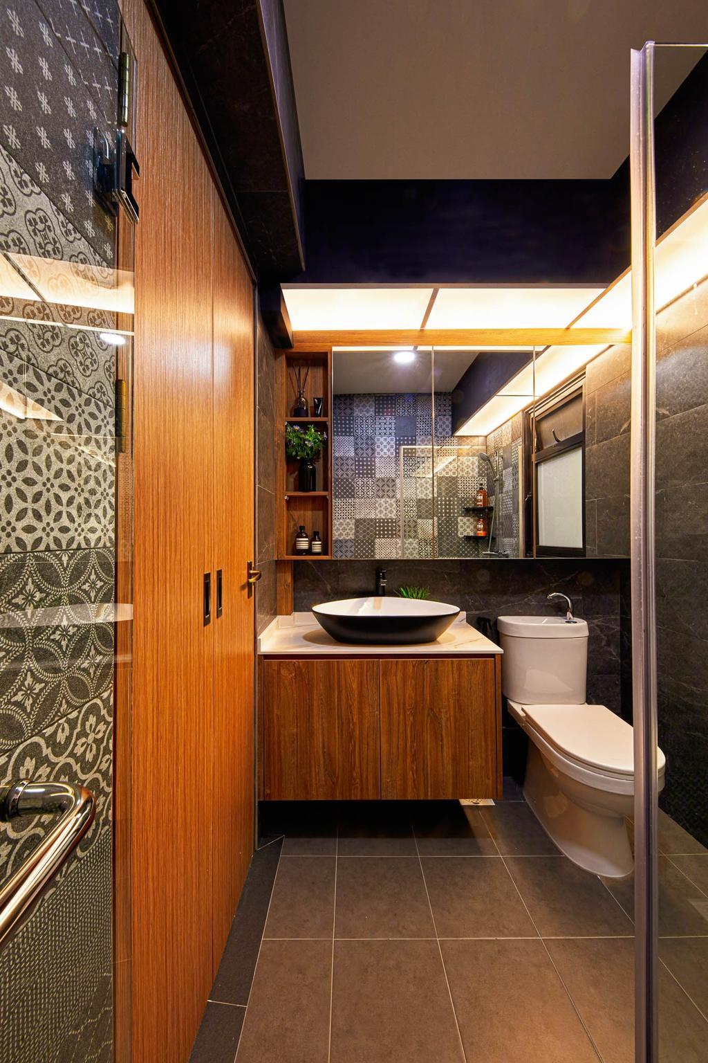 Contemporary, HDB, Bathroom, Sengkang West Road, Interior Designer, MET Interior