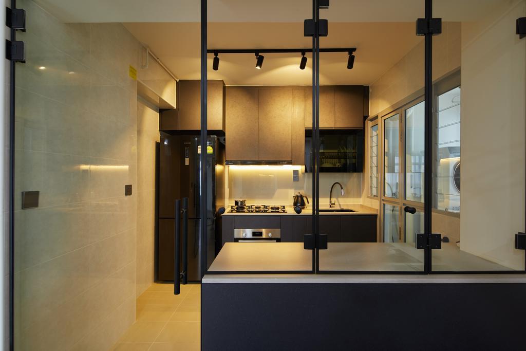 Contemporary, HDB, Kitchen, Tampines North Drive 1, Interior Designer, Archiwu Interior