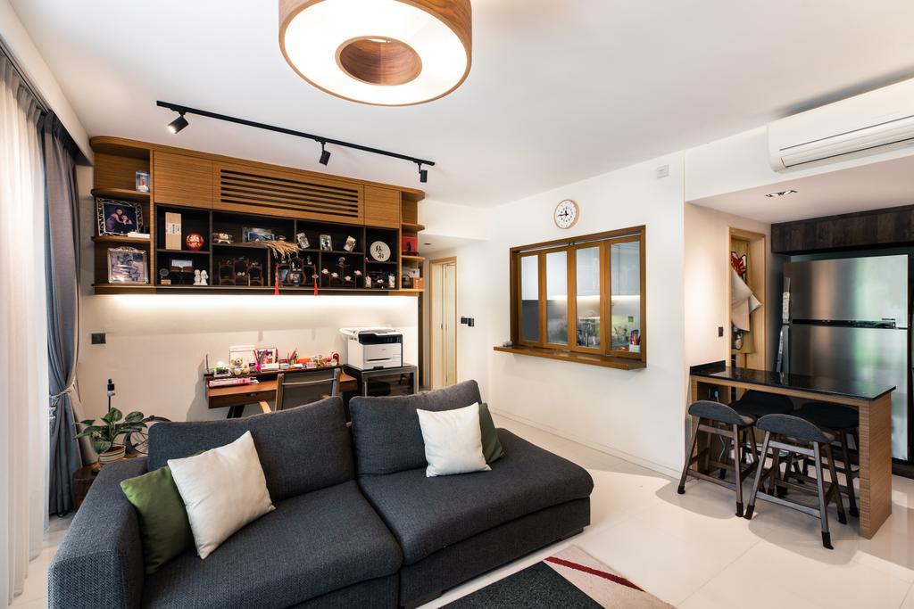 Contemporary, Condo, Living Room, The Rainforest, Interior Designer, Archiwu Interior
