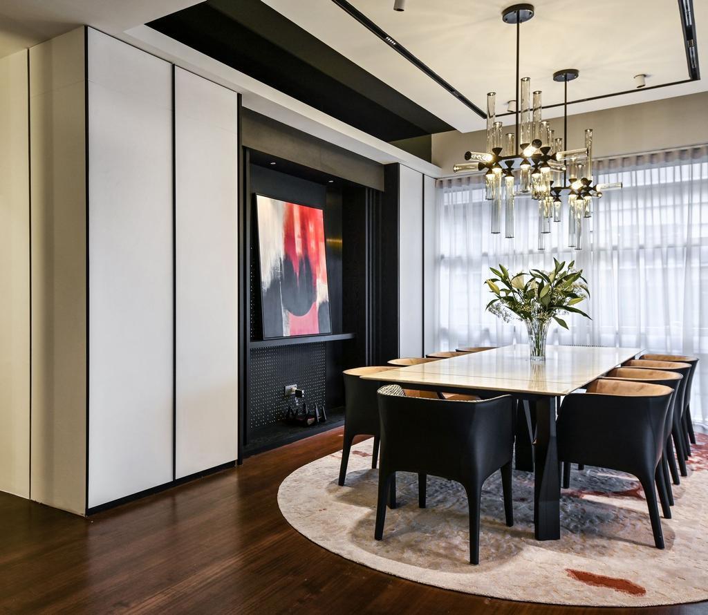 Contemporary, Condo, Dining Room, Mr. William's Residence , Park Seven KLCC, Interior Designer, SQFT Space Design Management, Modern