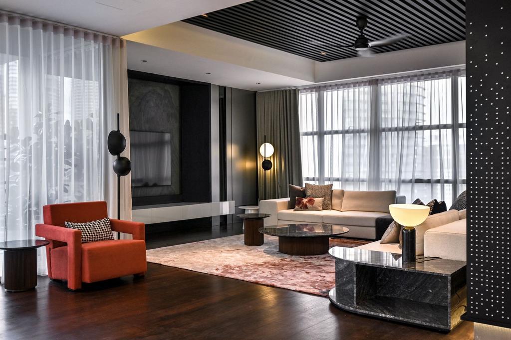 Contemporary, Condo, Living Room, Mr. William's Residence , Park Seven KLCC, Interior Designer, SQFT Space Design Management, Modern