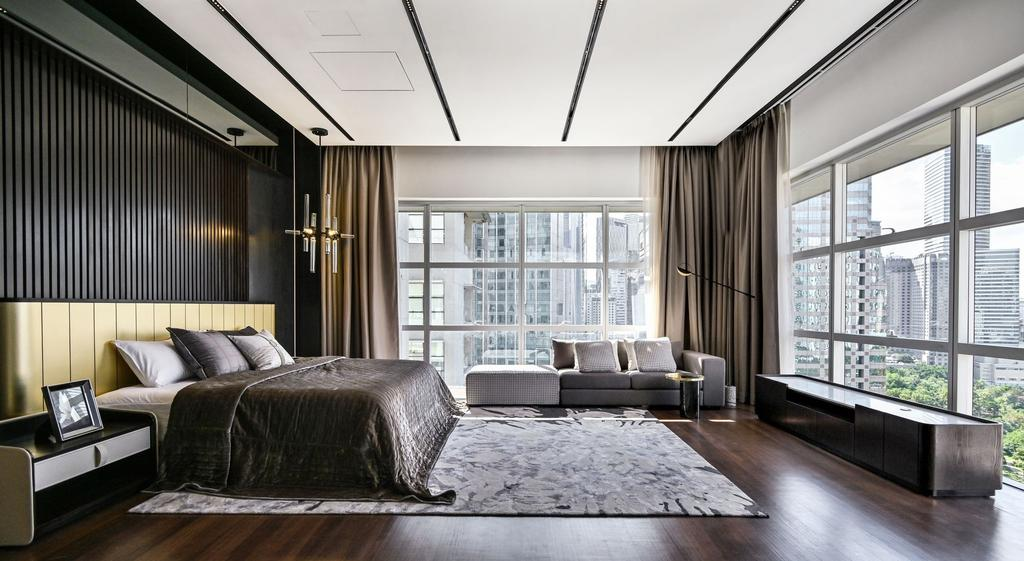 Contemporary, Condo, Bedroom, Mr. William's Residence , Park Seven KLCC, Interior Designer, SQFT Space Design Management, Modern