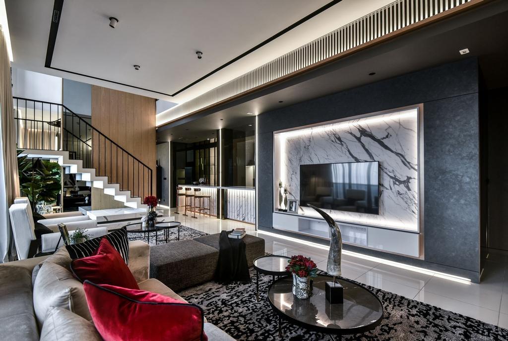 Condo, Living Room, THE VEO Show Unit Type E2 , KL East, Interior Designer, SQFT Space Design Management