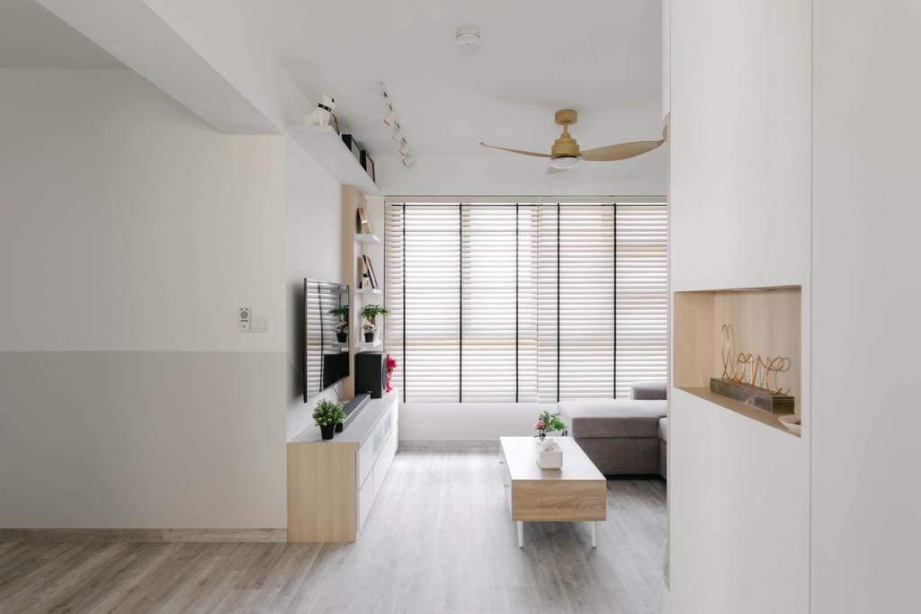 Scandinavian, HDB, Living Room, Bukit Batok West Avenue 8, Interior Designer, ChengYi Interior Design