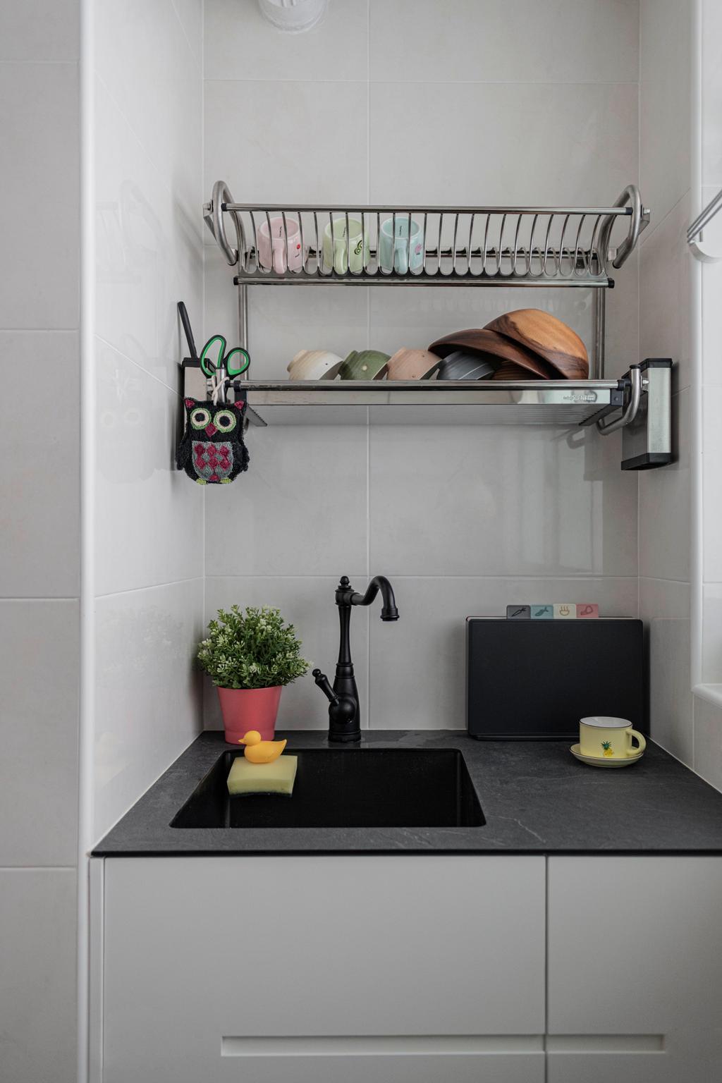 Scandinavian, HDB, Kitchen, Canberra Street, Interior Designer, Urban Home Design 二本設計家