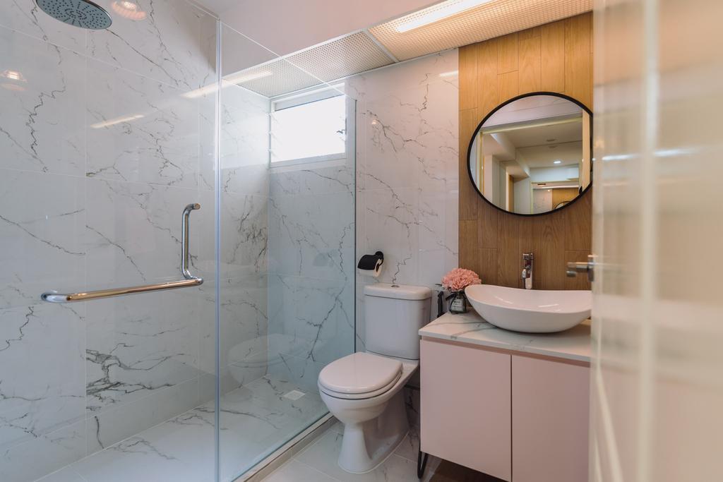Scandinavian, HDB, Bathroom, Boon Tiong Road, Interior Designer, Artmuse Interior