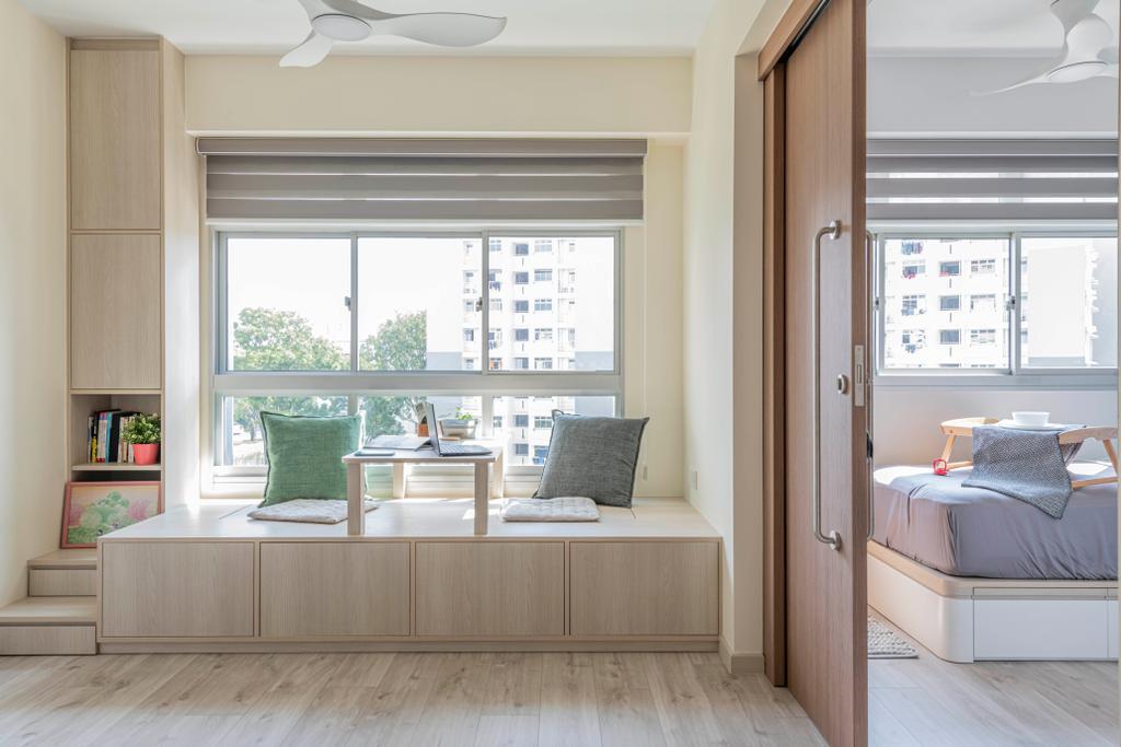Scandinavian, HDB, Living Room, Canberra Street, Interior Designer, Urban Home Design 二本設計家