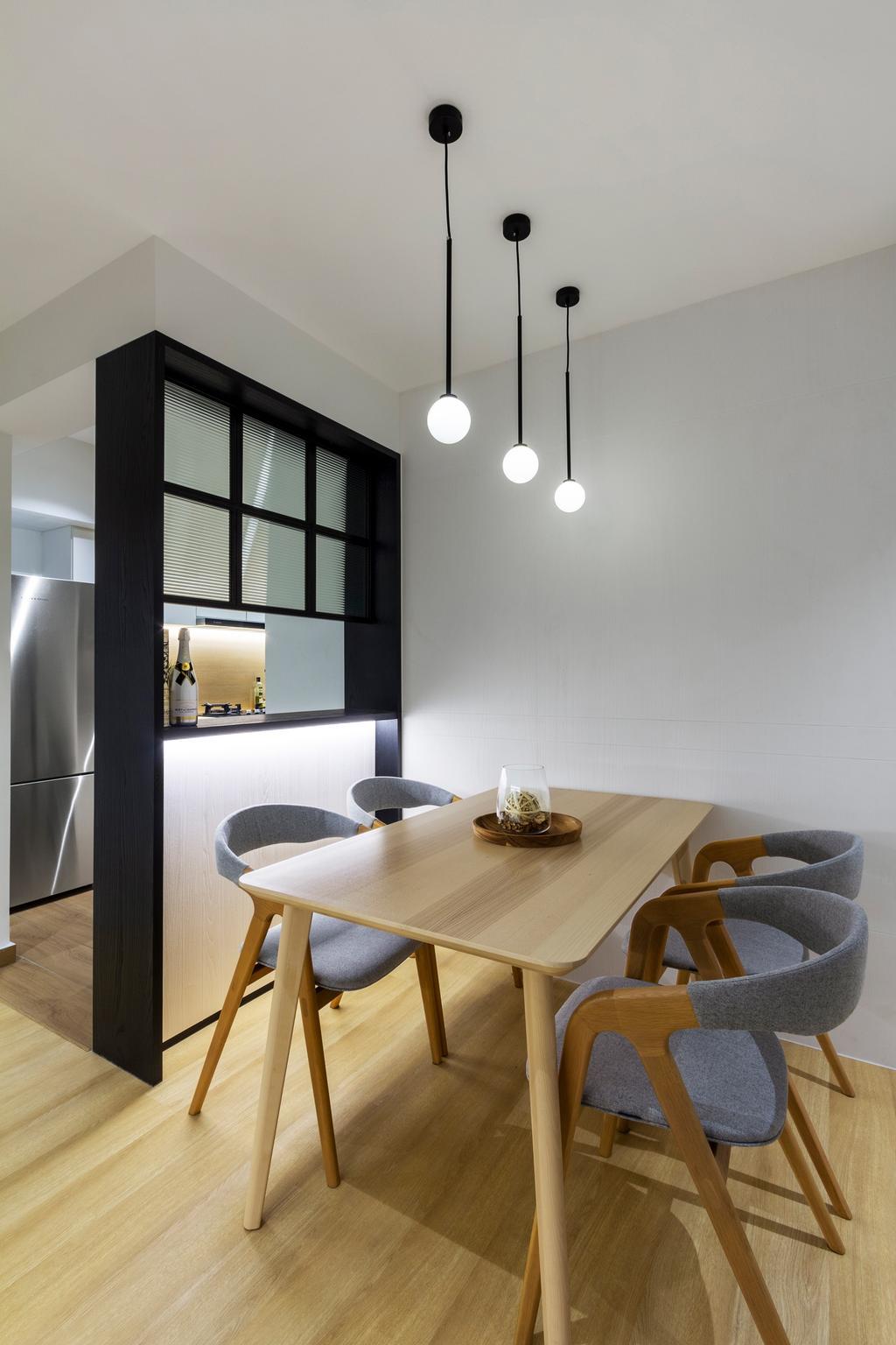 Scandinavian, HDB, Dining Room, Havelock Road, Interior Designer, Livspace