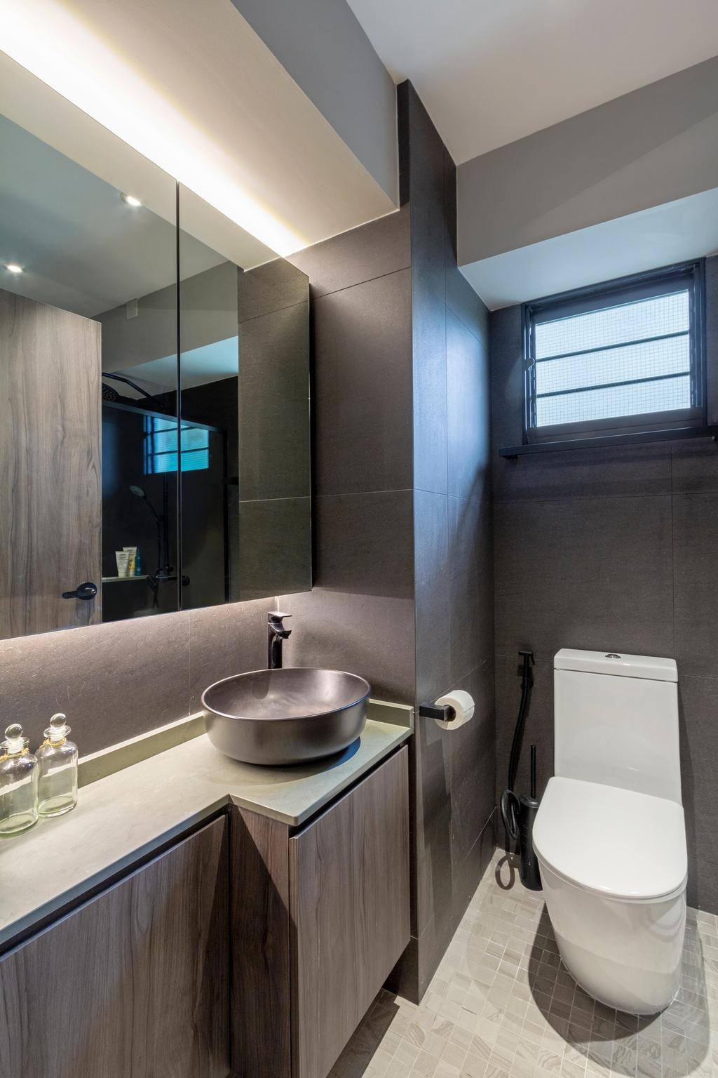 Scandinavian, HDB, Bathroom, Havelock Road, Interior Designer, Livspace