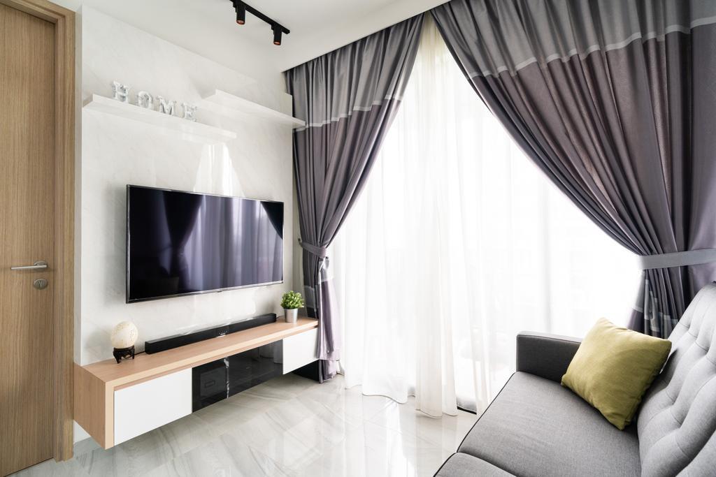 Scandinavian, Condo, Living Room, High Park Residences, Interior Designer, Livspace, Contemporary
