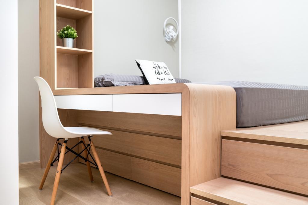Scandinavian, Condo, Bedroom, High Park Residences, Interior Designer, Livspace, Contemporary