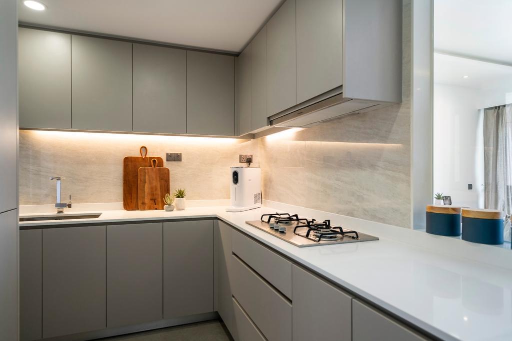 Contemporary, Condo, Kitchen, The Riversails, Interior Designer, Livspace