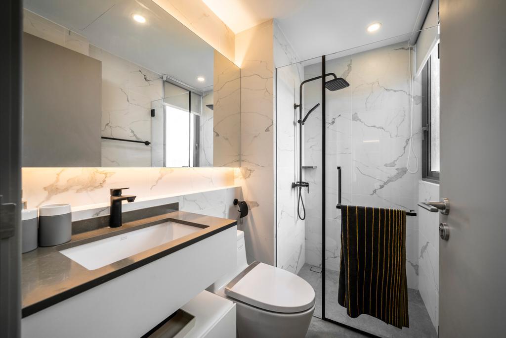 Contemporary, Condo, Bathroom, The Riversails, Interior Designer, Livspace