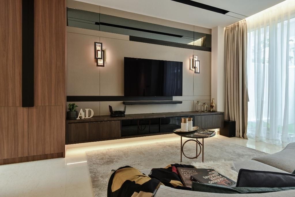 Modern, Landed, Living Room, Scenaria Super Link 2, North Kiara Hill, Interior Designer, Amaze Design Sdn Bhd, Contemporary