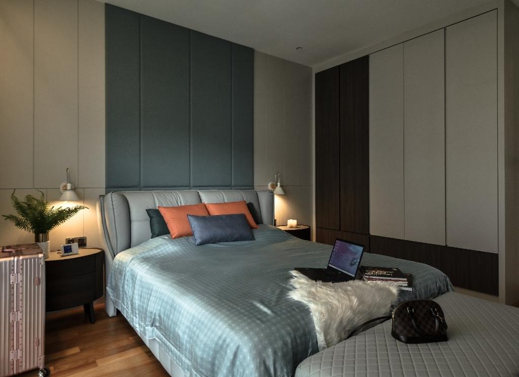 Modern, Landed, Bedroom, Scenaria Super Link 2, North Kiara Hill, Interior Designer, Amaze Design Sdn Bhd, Contemporary