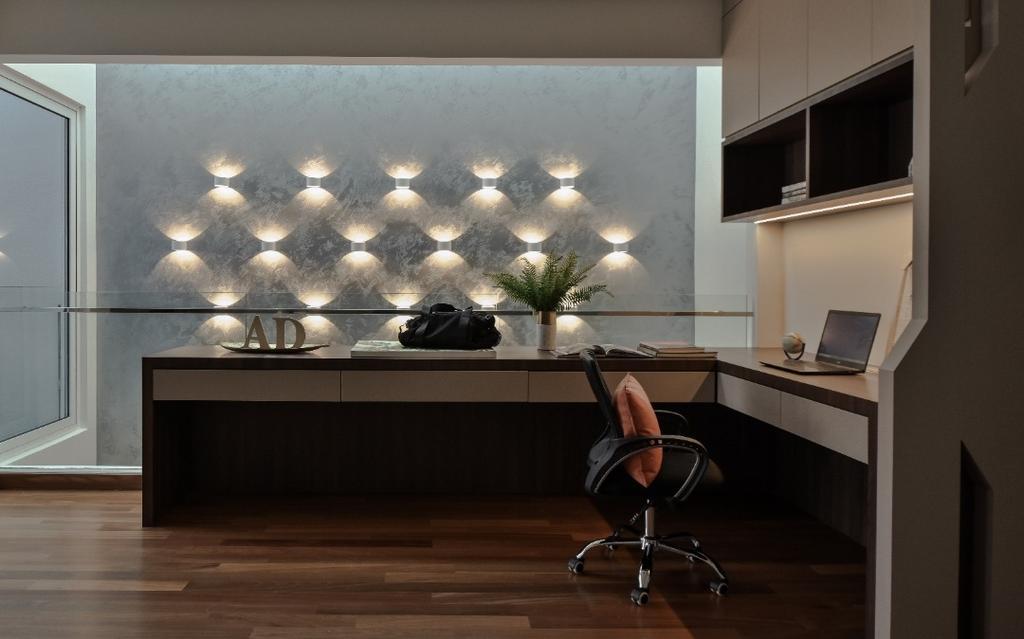 Modern, Landed, Study, Scenaria Super Link 2, North Kiara Hill, Interior Designer, Amaze Design Sdn Bhd, Contemporary
