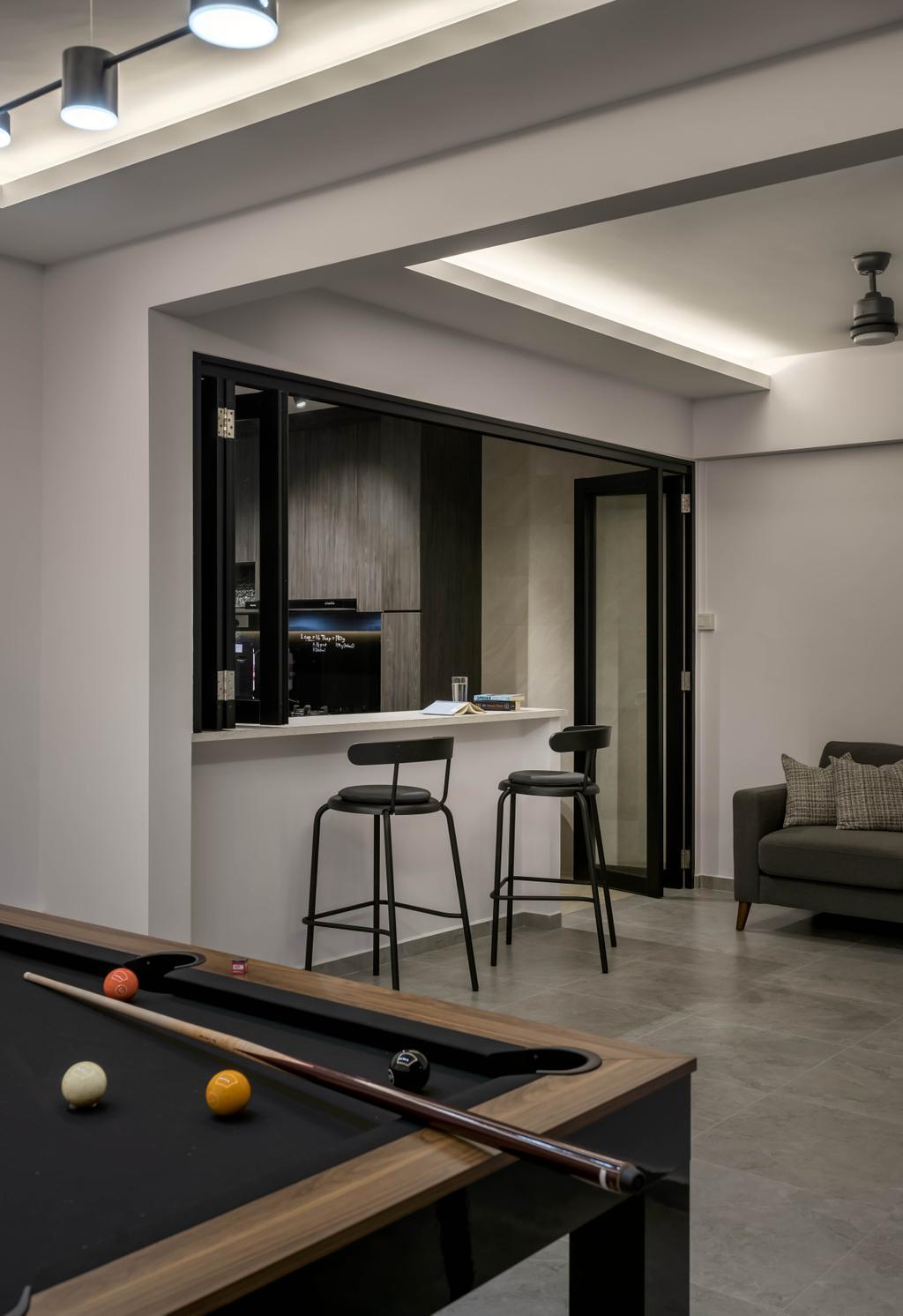 Contemporary, HDB, Living Room, Simei Road, Interior Designer, Zenith Arc