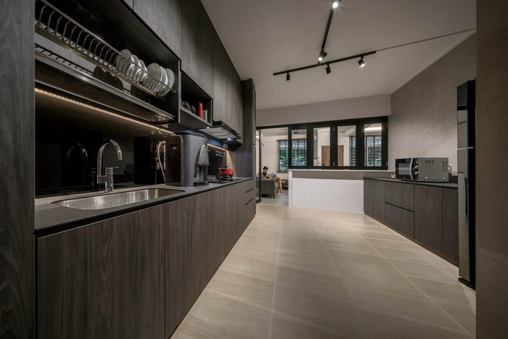 Contemporary, HDB, Kitchen, Simei Road, Interior Designer, Zenith Arc