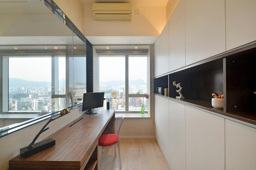 摩登, 私家樓, 書房, 名鑄, 室內設計師, Space Design