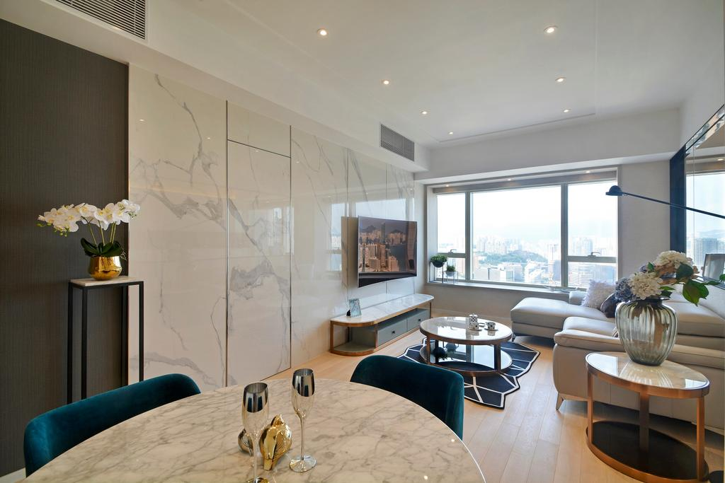 摩登, 私家樓, 客廳, 名鑄, 室內設計師, Space Design