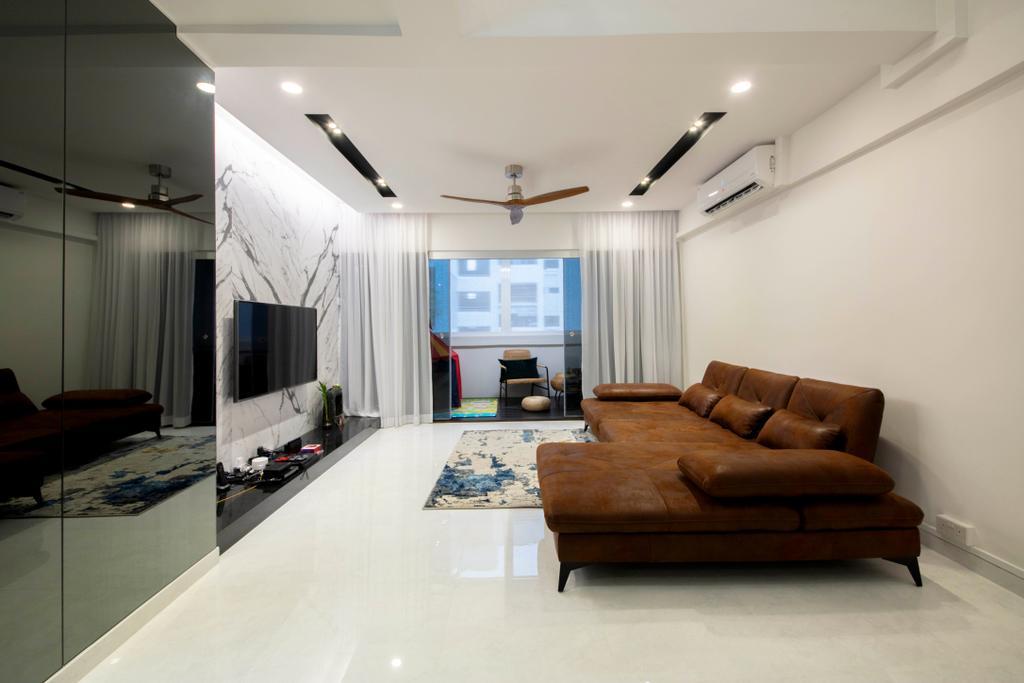 Contemporary, HDB, Living Room, Dakota Crescent, Interior Designer, ECasa Studio