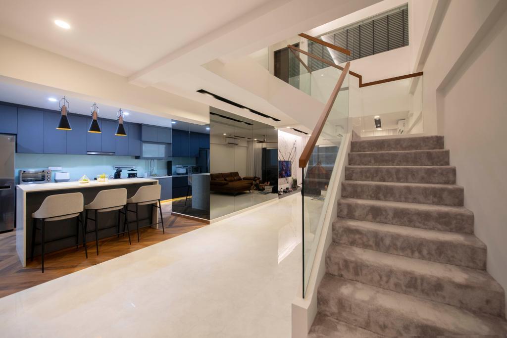 Contemporary, HDB, Kitchen, Dakota Crescent, Interior Designer, ECasa Studio