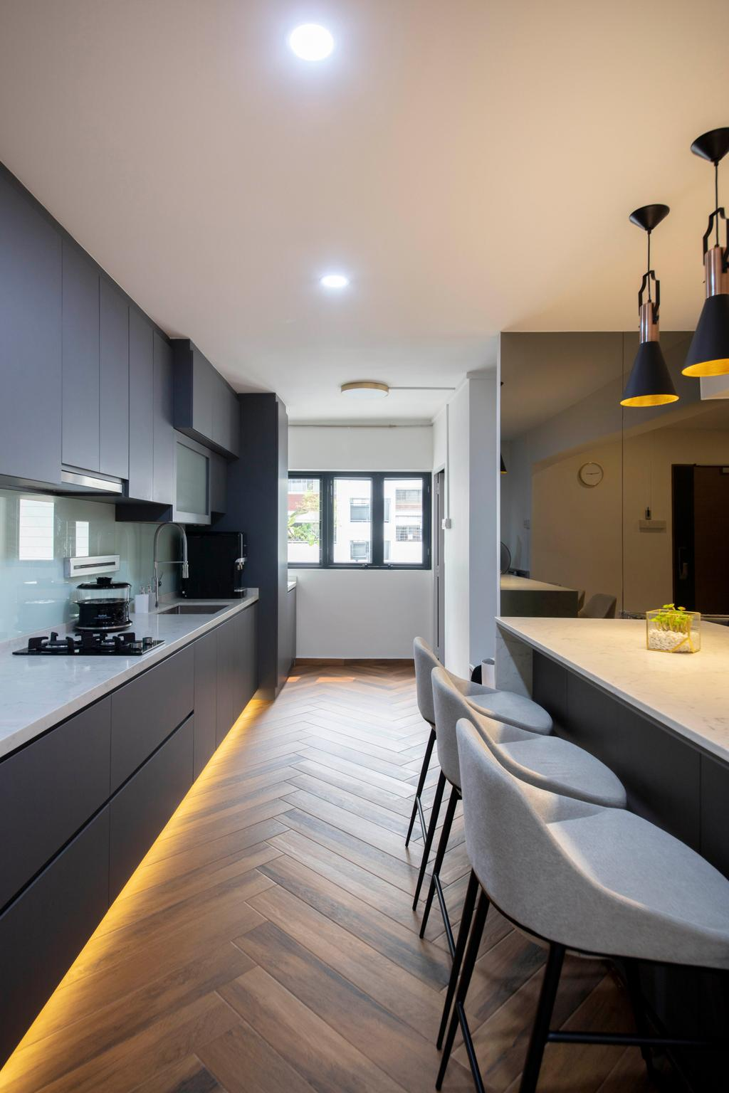 Contemporary, HDB, Kitchen, Dakota Crescent, Interior Designer, ECasa Studio