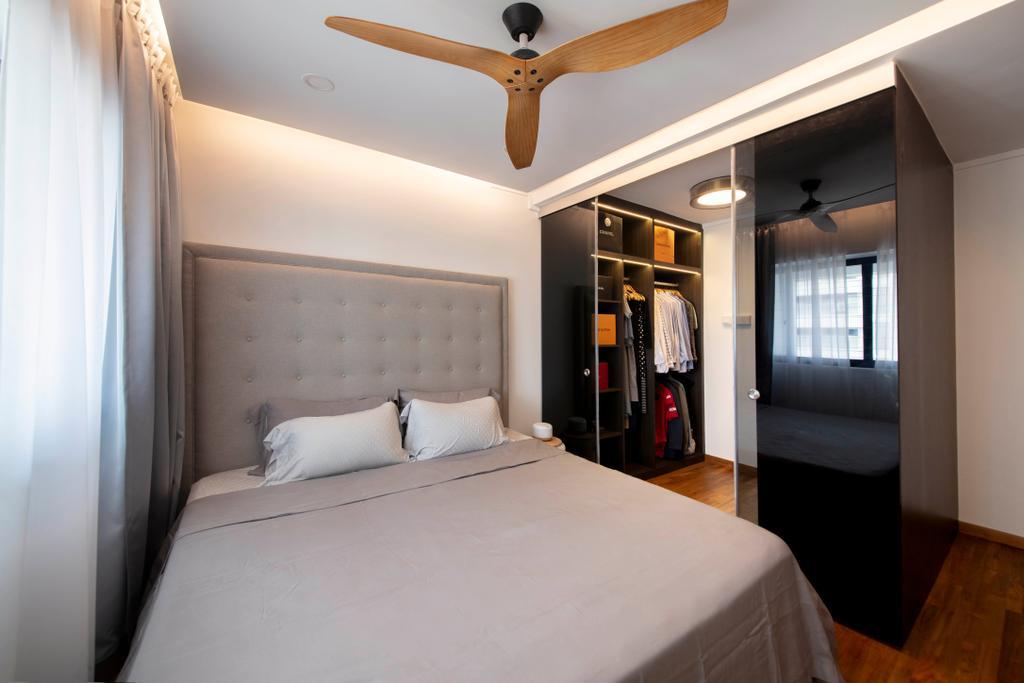 Contemporary, HDB, Bedroom, Dakota Crescent, Interior Designer, ECasa Studio