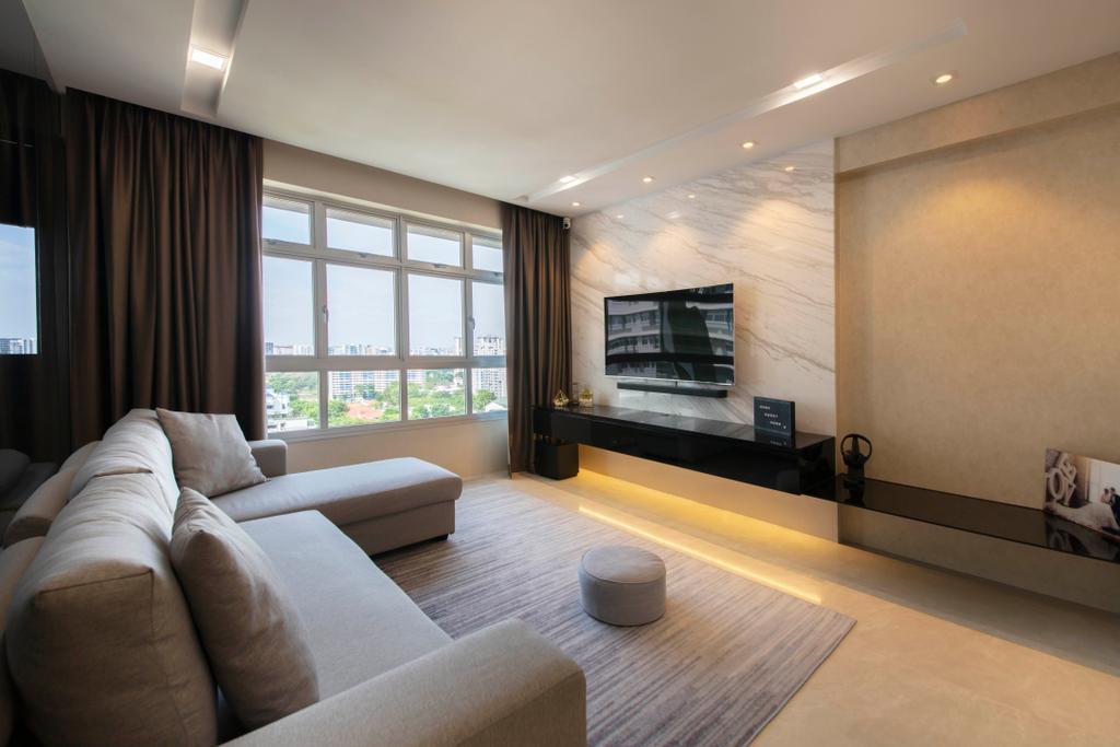 Contemporary, HDB, Living Room, Saint George's Lane, Interior Designer, ECasa Studio, Modern