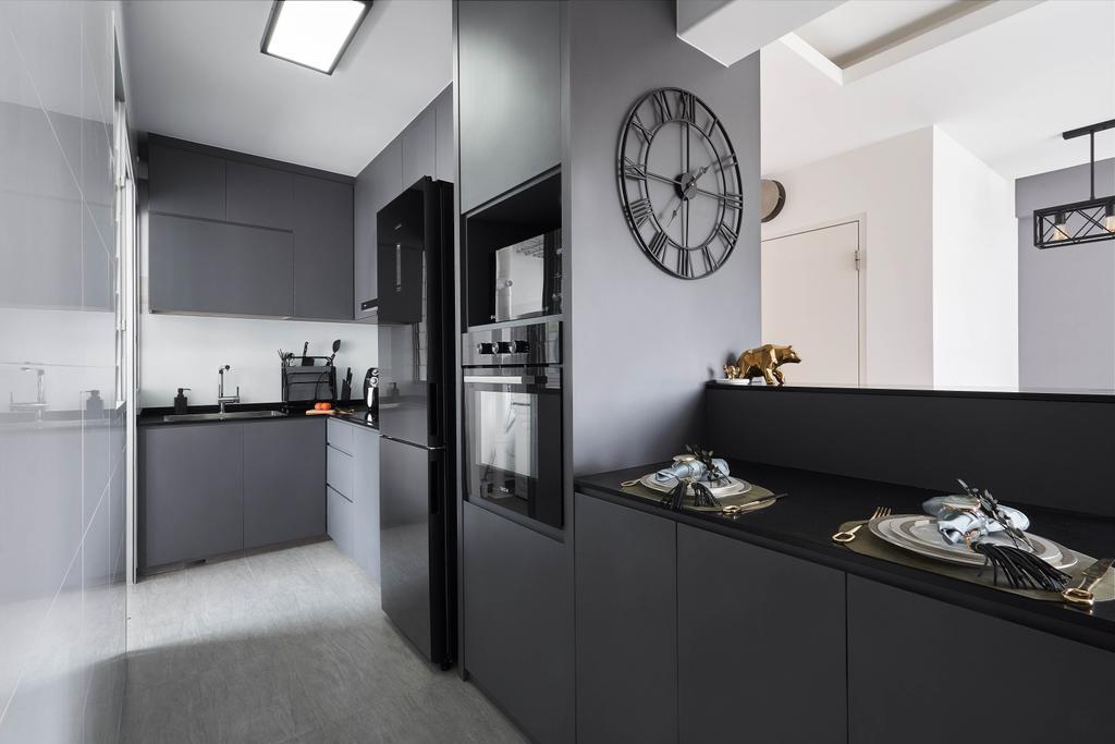 Contemporary, HDB, Kitchen, Anchorvale Lane, Interior Designer, ECasa Studio