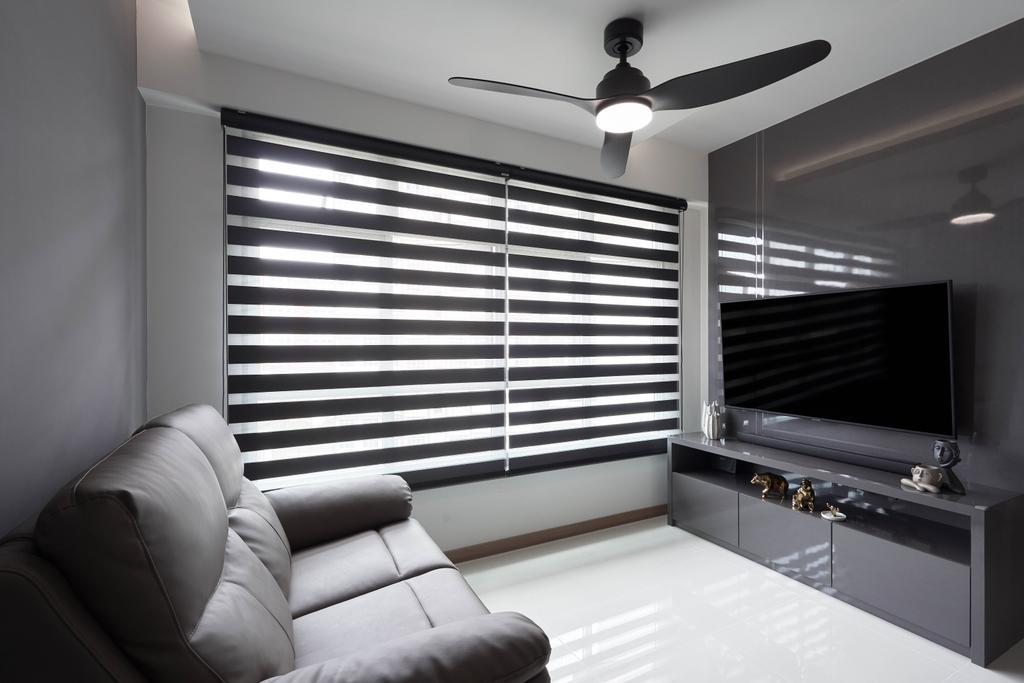 Contemporary, HDB, Living Room, Anchorvale Lane, Interior Designer, ECasa Studio