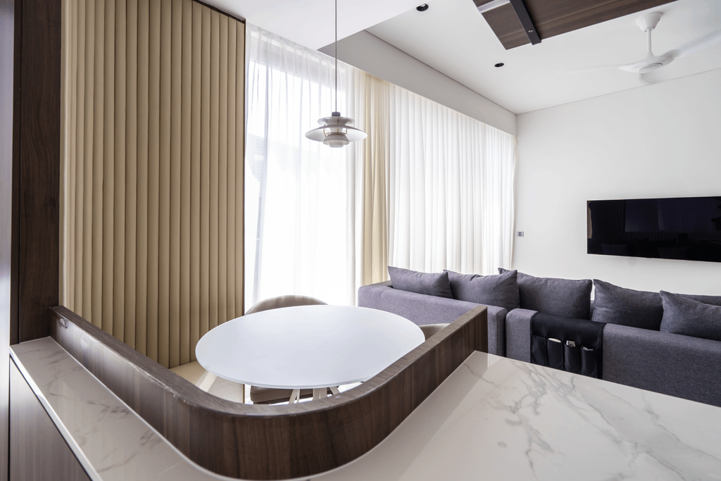 Contemporary, Condo, Dining Room, Reflections at Keppel Bay, Architect, 7 Interior Architecture