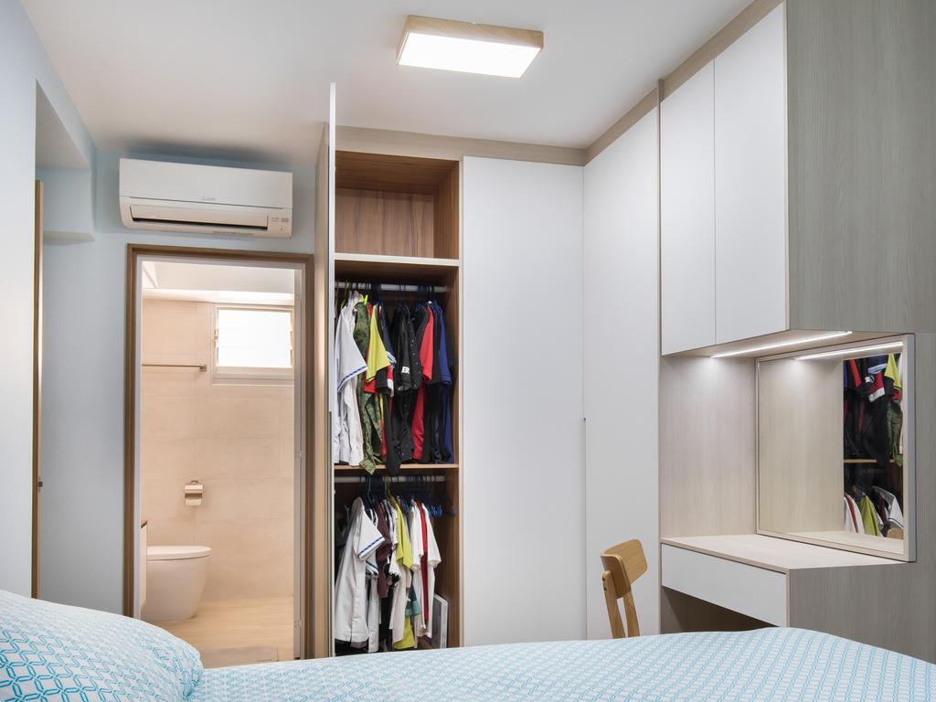 Scandinavian, HDB, Bedroom, Bedok North Road, Interior Designer, Ataz Haus Interior Design