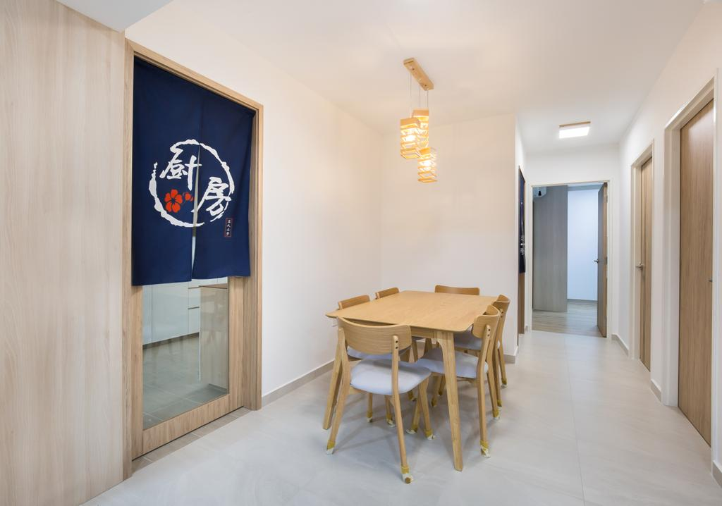 Scandinavian, HDB, Dining Room, Bedok North Road, Interior Designer, Ataz Haus Interior Design