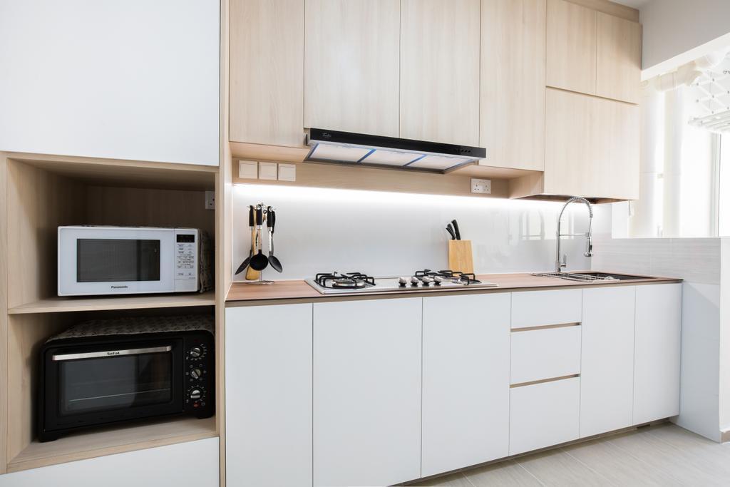 Scandinavian, HDB, Kitchen, Bedok North Road, Interior Designer, Ataz Haus Interior Design