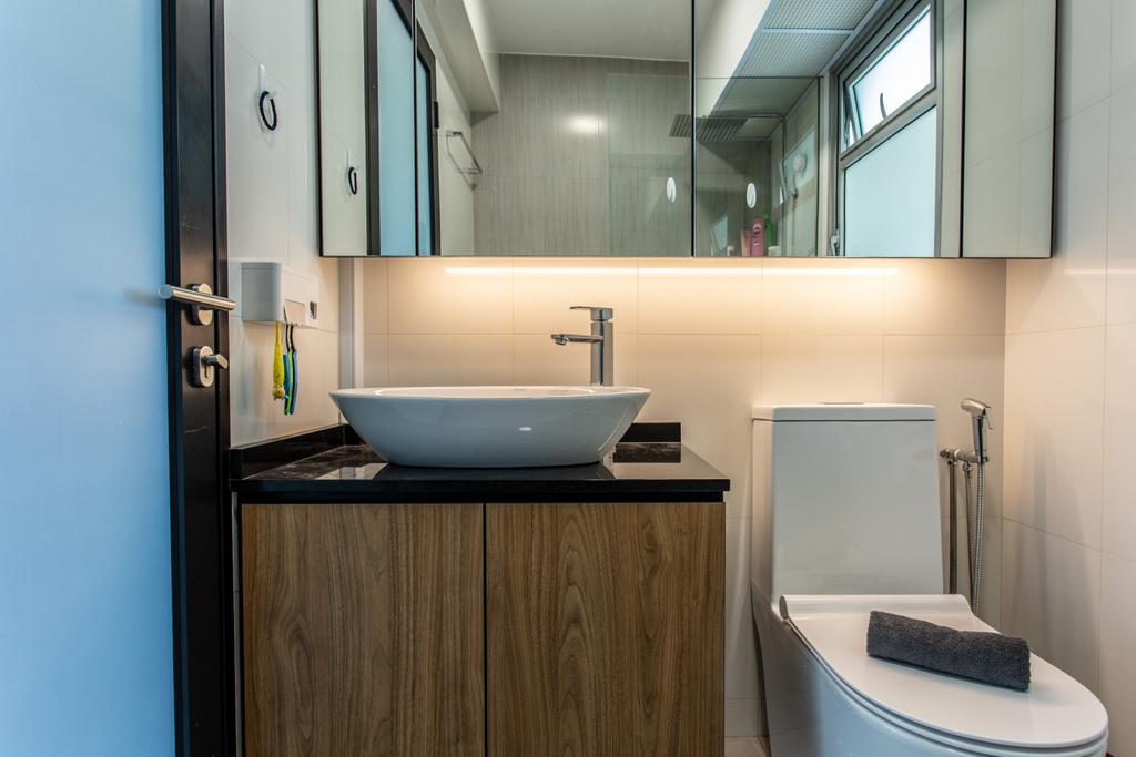 Contemporary, HDB, Bathroom, Sumang Lane, Interior Designer, Luova Project Services