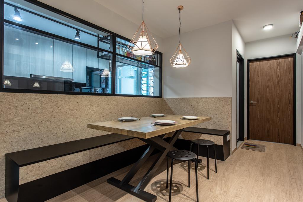 Contemporary, HDB, Dining Room, Sumang Lane, Interior Designer, Luova Project Services