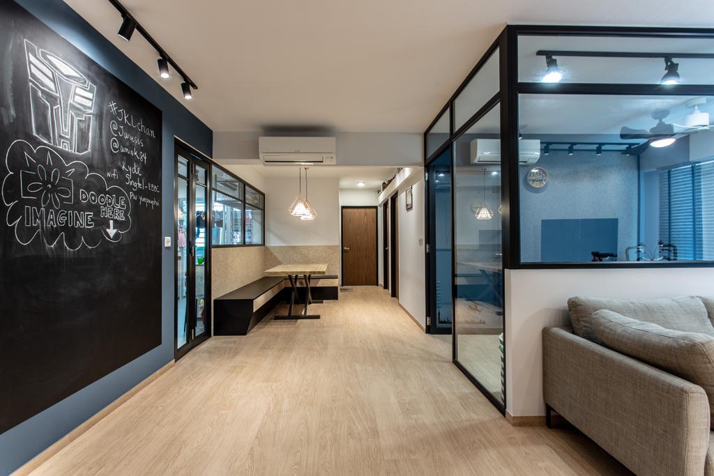 Contemporary, HDB, Living Room, Sumang Lane, Interior Designer, Luova Project Services